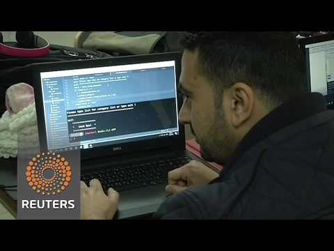 Having fled fighting, Iraqis and Syrians learn to code