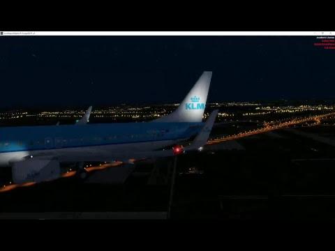 KLM EGSS/EHAM Evening Flight Holding at SPL