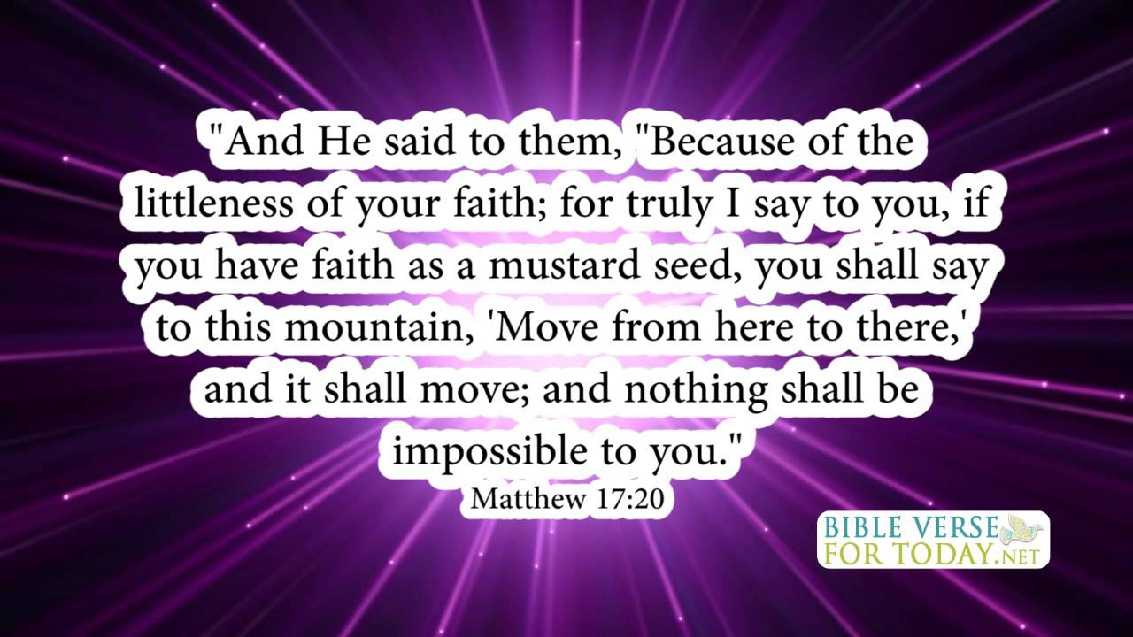 Bible Verses on Faith Matthew 17 20 Bible Verse
