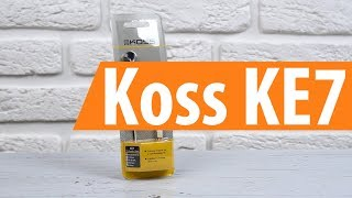 Розпакування Koss KE7 / Unboxing Koss KE7