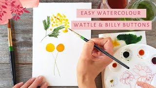 Watercolour Wattle AND Billy Buttons - two tutorials in one!