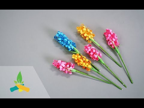 How to make paper flower hyacinth | DIY Tutorial