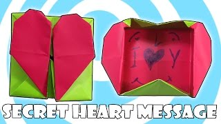 Diy: Origami Secret Heart Box (valentine's Day Idea)