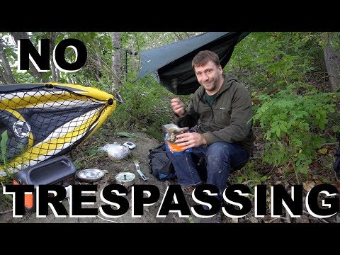 Kayak Urban Stealth Camping On The River