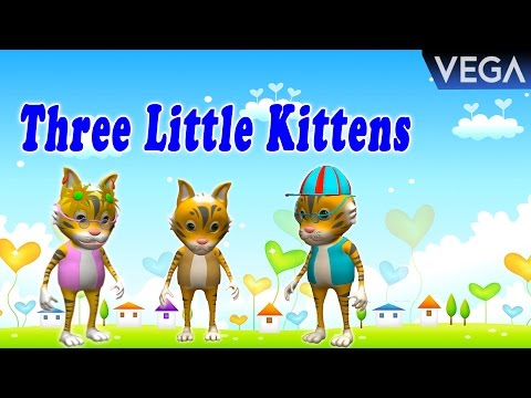 Three Little Kittens And Many More Kitten Cat Songs | Popular Nursery Rhymes Collection