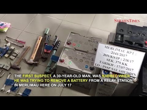 Melaka cops nab serial battery thief and his buyer