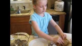 Making A Pine Cone Bird Feeder