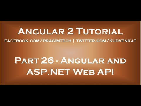 Angular and ASP NET Web API