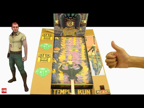 How to Make Temple Run 2 from Cardboard - Temple Run 2 In Real Life