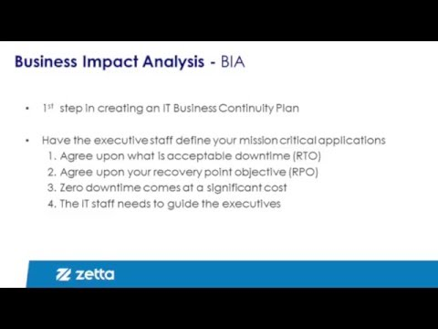 Disaster Recovery Planning Step 1: Business Impact Analysis