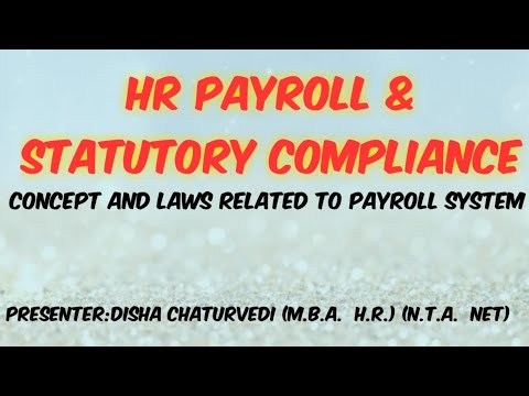 Payroll Statutory Compliance laws related