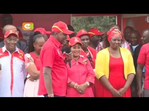 Jubilee campaigns in Makueni, Kilifi
