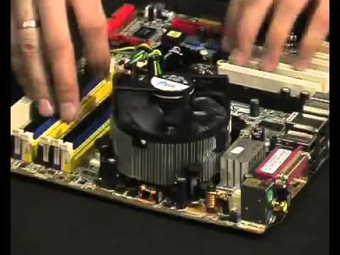 Установка процессора и кулера