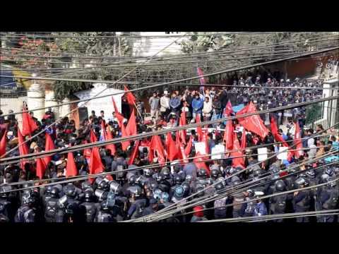 UML Protest against Indian Embassy
