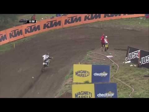 Max Anstie crash MXGP of Czech Republic MX2 Race 2 - 2016