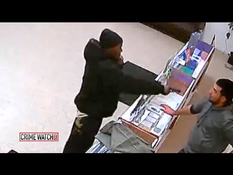 CrimeTube: Store Owner Beats Down Gun-Wielding Cell Phone Thief - Crime Watch Daily