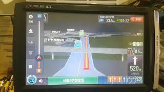 아이나비 K3 3D 네비게이션 모의주행테스트
