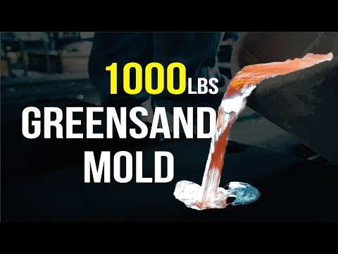Casting Aluminum in a 1000lbs Greensand Mold