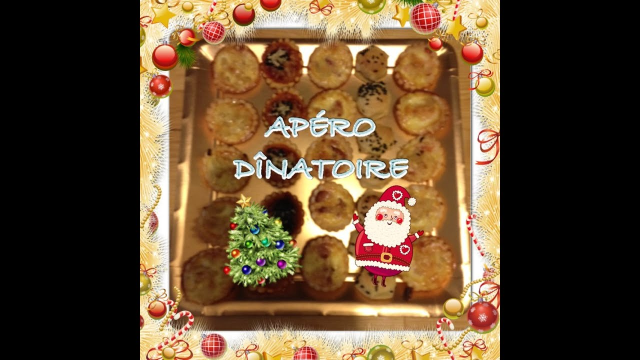 apero dinatoire 5 sp cial noel mini quiches pizzas et feuillet s youtube. Black Bedroom Furniture Sets. Home Design Ideas