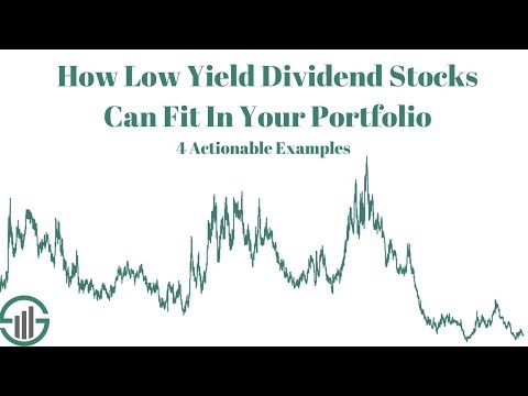 How Low Yield Dividend Stocks Can Fit In Your Portfolio [4 Examples]