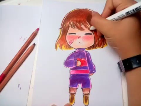 how to draw undertale frisk