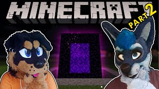 Visiting the NETHER in Minecraft! | part 2 | Furry Lets Play