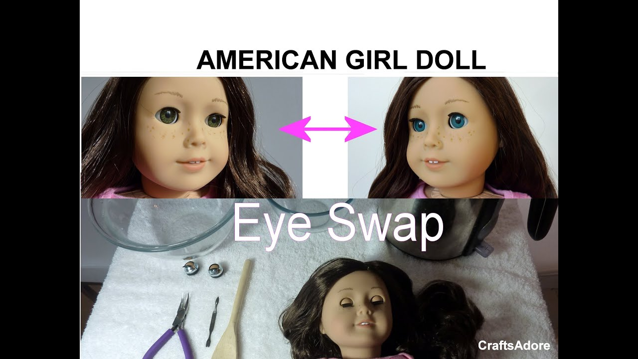 """Custom 18/"""" American Girl Size Replacement Parts Brown Doll Eyes"""