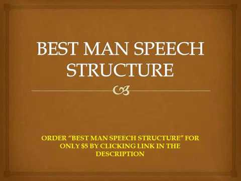 Best Man Speech Structure