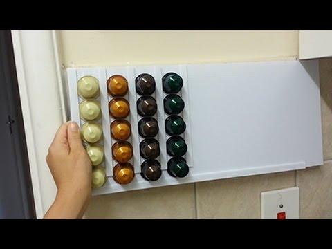 vlog diy nespresso pod holder 2013 12 26 youtube. Black Bedroom Furniture Sets. Home Design Ideas