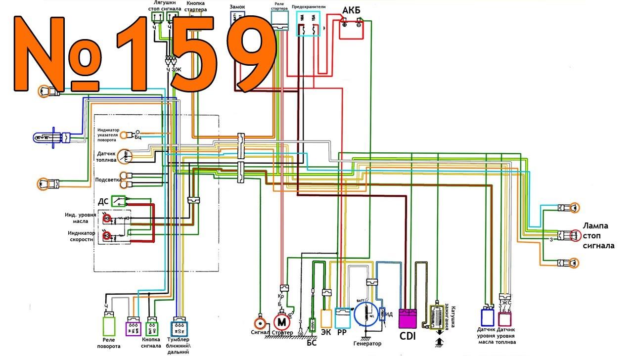 электрическая схема honda dio 27