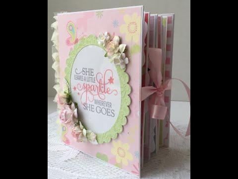 Baby Girl Mini Album Chipboard Box Wild Orchid Crafts Youtube