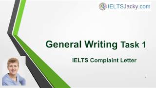 General Writing Task 1 – IEĻTS Complaint Letter