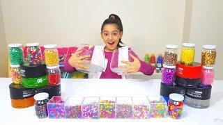Farklı Malzemelerle En Güzel Slime Kimin Yarışması 3 Colors Hair Gel Slime Challenge, Fun kid video