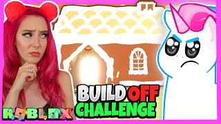 MeganPlays Challenged Me to a Gingerbread House BUILD OFF in the NEW Adopt Me Update Roblox Adopt Me