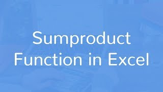 sumproduct for total cost calculation in excel in hindi