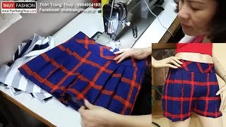 Hướng dẫn may quần short nữ tại Thời Trang Thuỷ phần 1 - Sewing shorts for women