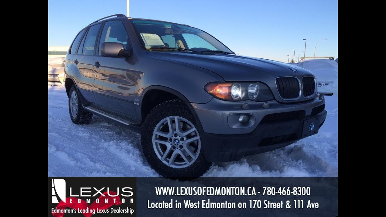 used grey 2004 bmw x5 awd 3.0i review | lacombe alberta - youtube