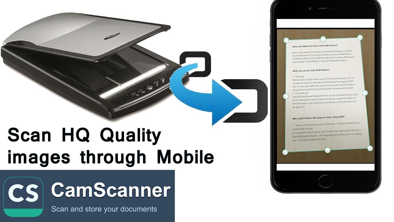 Convert Your Built-In Mobile Camera as a Portable Scanner | Scan HQ images  through Smart Phone