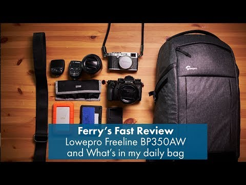 review Lowepro Freeline BP350AW & What's in my daily bag