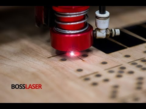 DIY Laser Cut / Engrave Wooden Dominoes w/ Box - Boss Laser Free Download