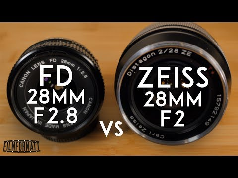 Canon FD 28mm F2.8 vs Zeiss ZE Distagon T* 28mm f2
