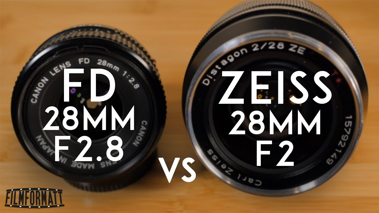 Canon FD 28mm F2 8 vs Zeiss ZE Distagon T* 28mm f2