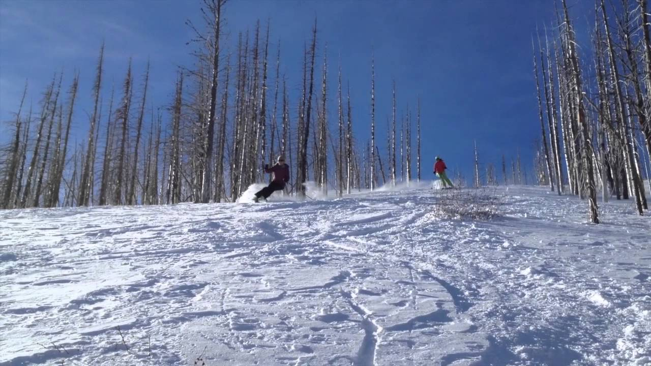 backcountry skiing at teton pass ski area, choteau, mt - youtube