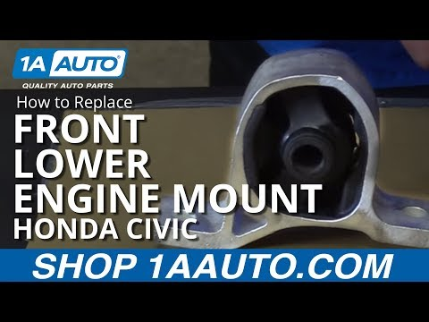 How to Replace Front Lower Engine Mount 01-05 Honda Civic