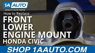 How to Replace Install Front Lower Engine Mount 01-05 Honda Civic 1.7L