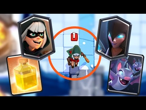 Clash Royale - NEW CARDS! Bandit, Heal Spell, Bats & Night Witch