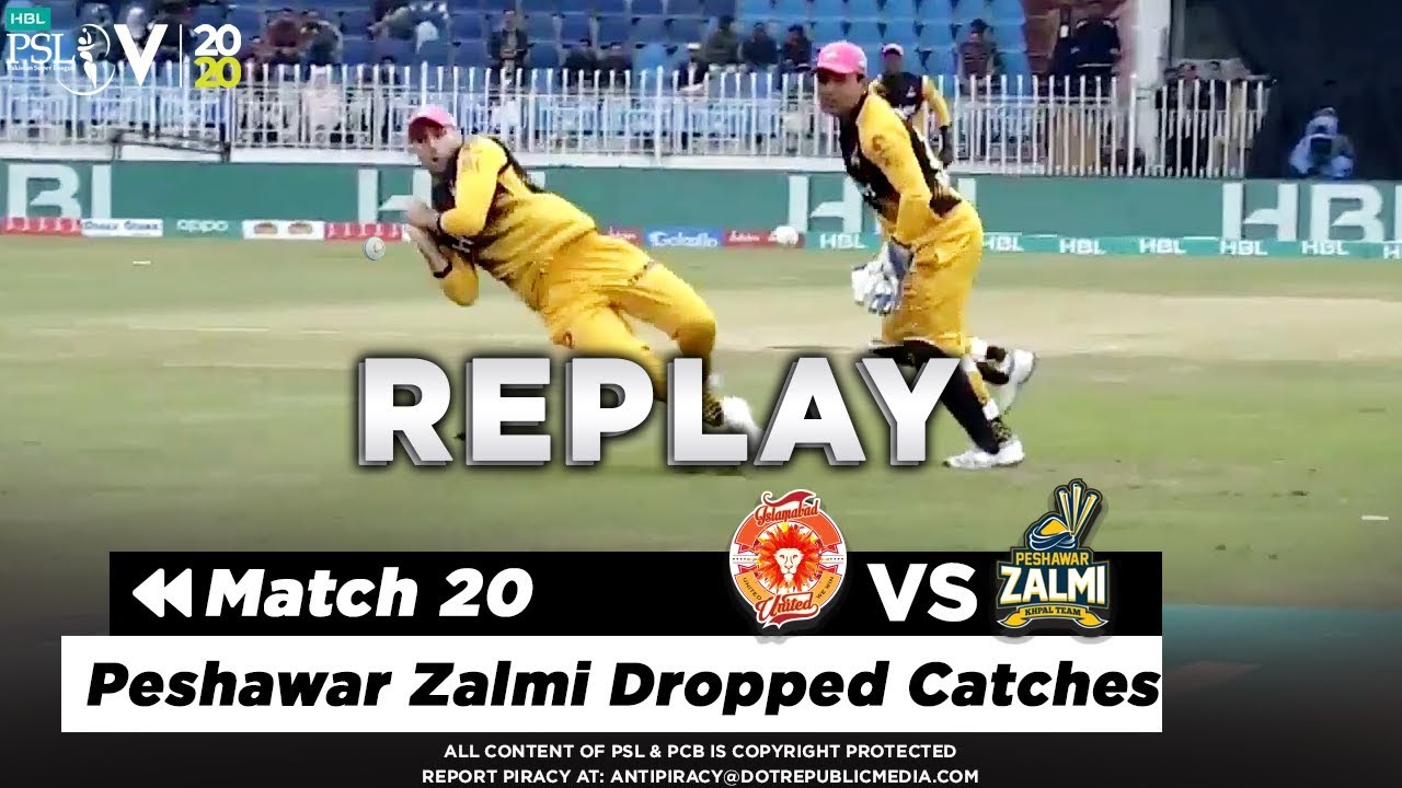 Peshawar Zalmi Dropped Catches | Islamabad United vs Peshawar Zalmi | Match 20 | PSL 2020