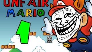 😠Unfair Mario #1 Perdiendo!! El control A un Nivel Estremo!!😠