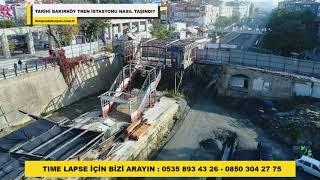 Time lapse - Tarihi Bakırköy Tren İstasyonu nasıl taşındı? - İKM Prodüksiyon