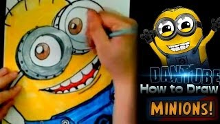 Drawing : Minions Despicable me 2 ★DanTube Draw★